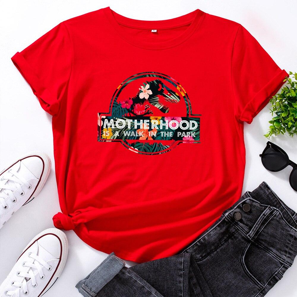 H2434975e8d3e46159553397d0261d20ft JFUNCY Casual Cotton T-shirt Women T Shirt Motherhood Letter Printed T-shirt Oversized Woman Harajuku Graphic Tees Tops New 2021