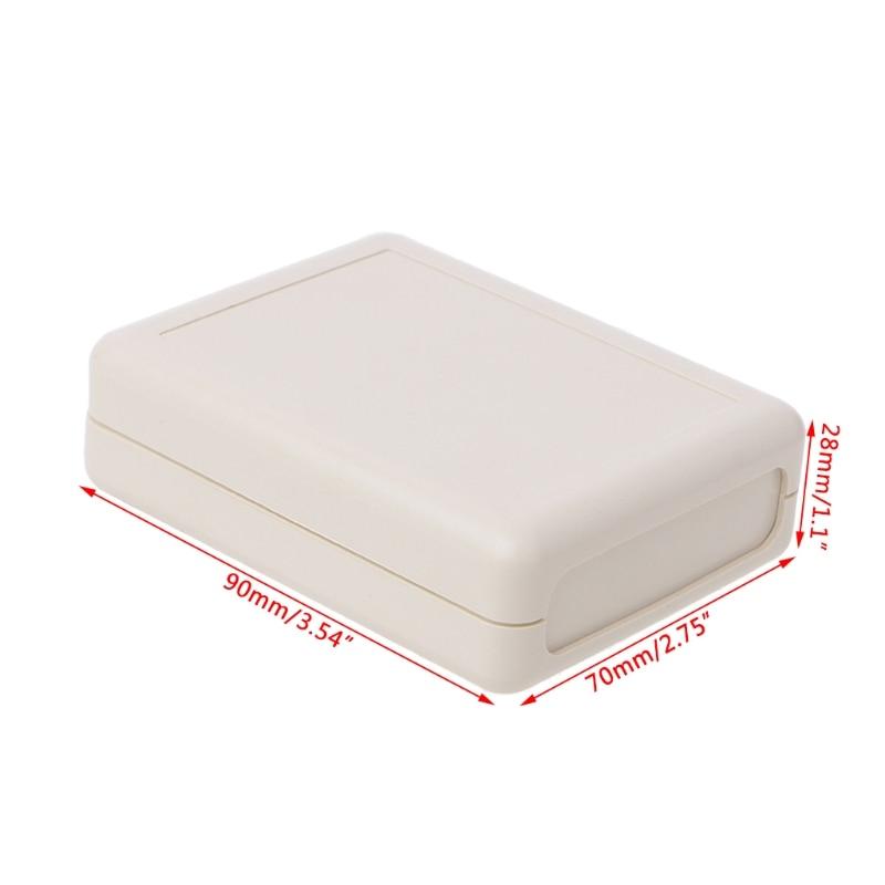Waterproof Instrument Box Plastic Case Gray Electronic Project DIY 90x70x28mm