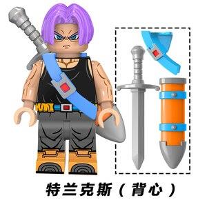 Image 5 - Neue Dragon Ball Z Torankusu Vegeta Anime Goku Tien Shinhan Bausteine Ziegel action figur Kinder Cartoon Spielzeug