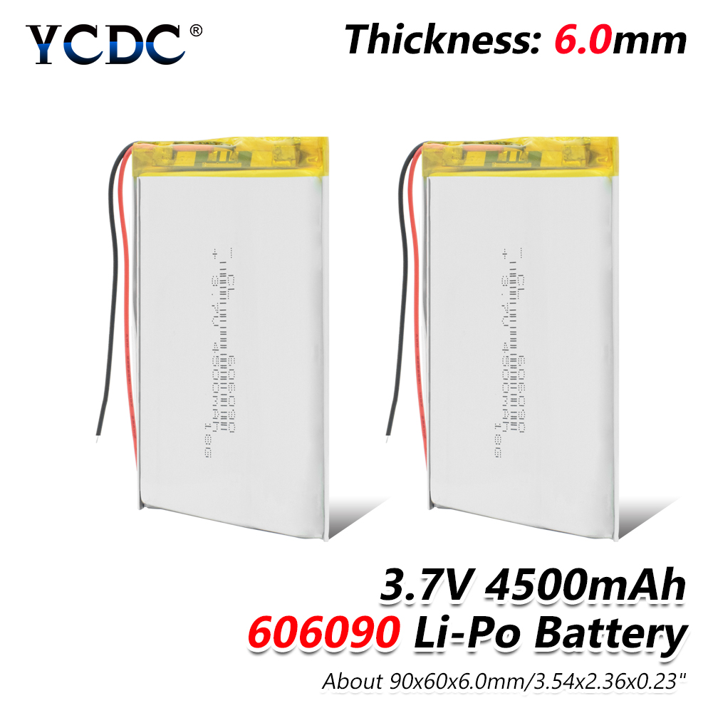 3.7V 4500mAh Lipo Battery 606090 With PCB For Tablet PC PAD MID Camera LED lamp, Monitoring & Medical Equipment Electric Toys