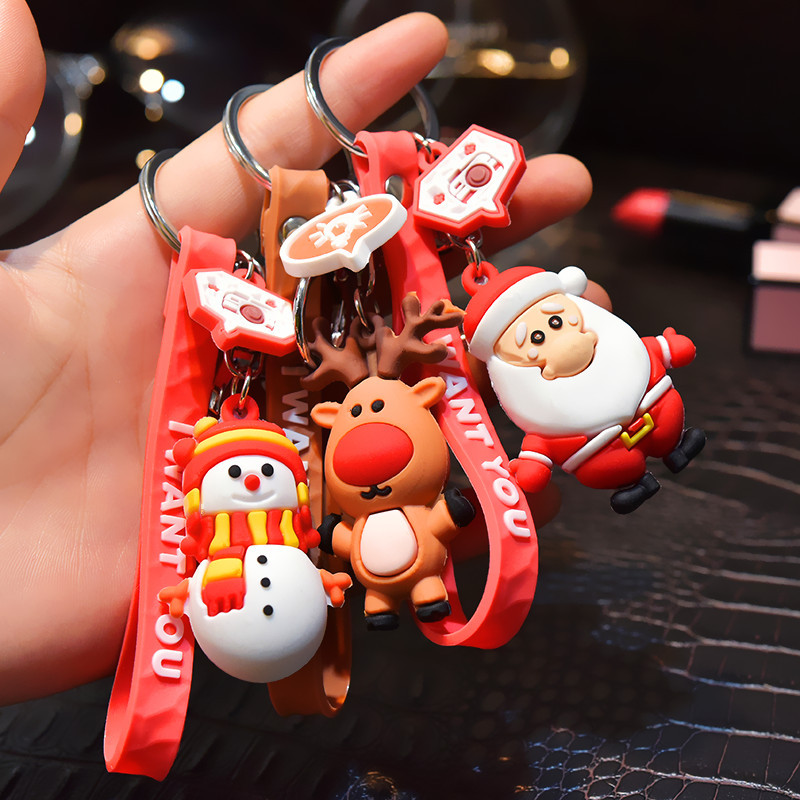 Christmas Keychain Accessories Merry Christmas Decoration for Home Happy  New Year 12 Xmas Gift Noel Navidad 12 Kerst Decor