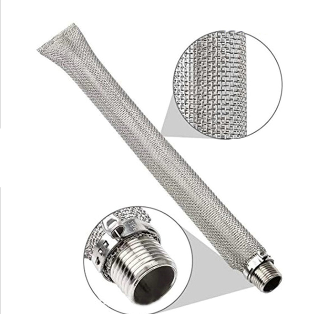 Mash Tun Beer Filter Reusable Stainless Steel Thread Strainer Multifunction Bazooka Screen Wine Tools Home Kettle Brewing Mesh