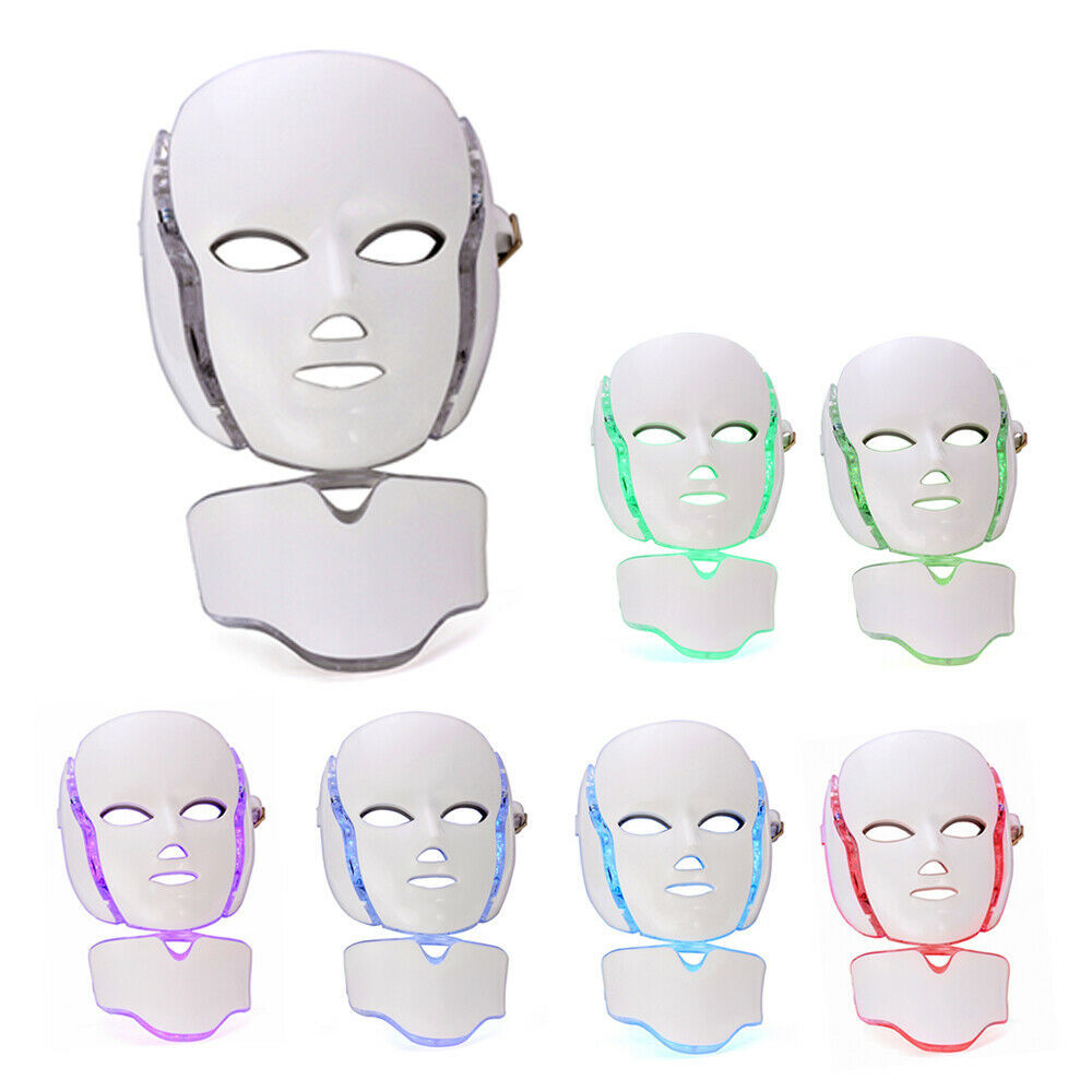 Beauty Photon LED Facial Mask Therapy TL50 7 Colors Light Skin Care Rejuvenation Wrinkle Acne Removal Face Beauty Spa