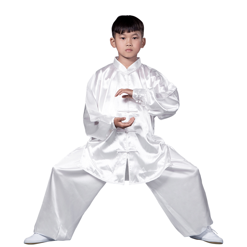 2019 Chinese Traditional Sets Sanda Kong Fu Wushu Suit Tai Chi Clothes Kick Boxing Martial Arts Uniform Girl Boy Costumes