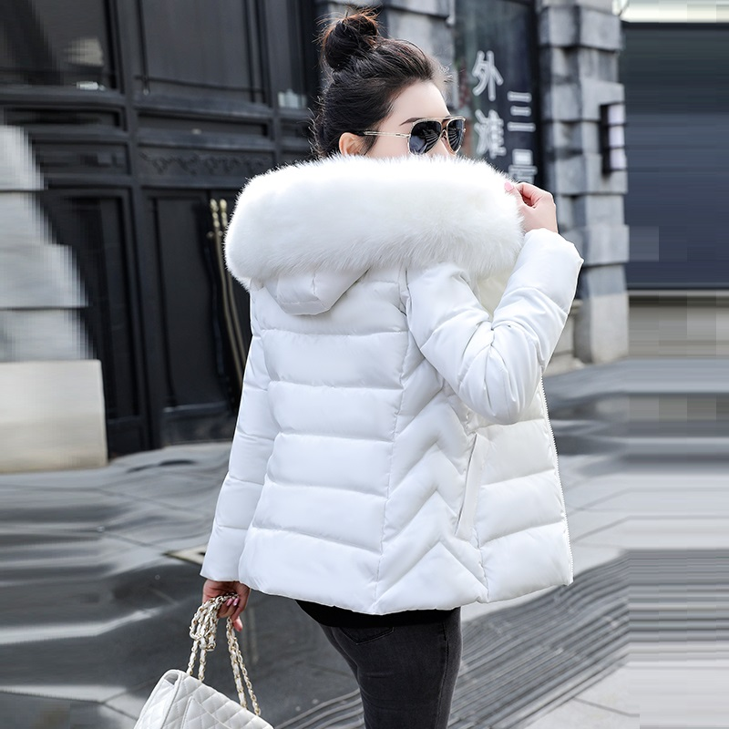 New Parkas Jacket Coat Female Thick Womens Cotton Winter Outwear Big Fur