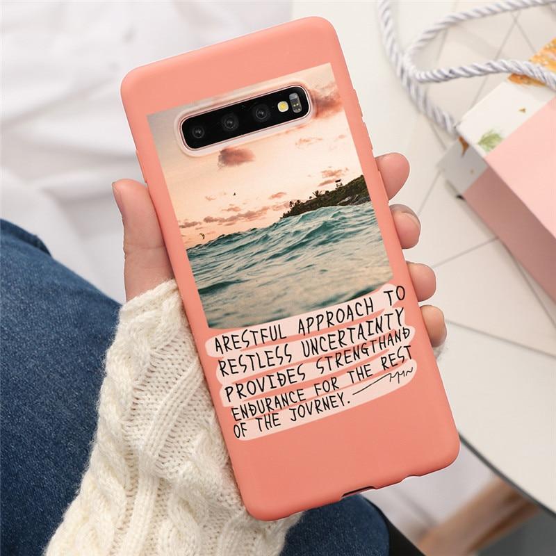 Sweet sky pink Cloud Dream Shell Pattern Case For Samsung Galaxy J4 J5 J6 J7 Plus Prime 2017 2018 S10 S20 Ultra S8 S9 Plus S10e