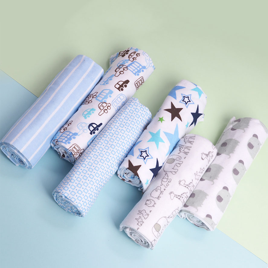 4 Pcs/lot Soft Baby Blankets Newborn Muslin Diapers 100% Cotton Flannel Receiving Baby Blanket Newborn Swaddle Wrap Manta Bebe
