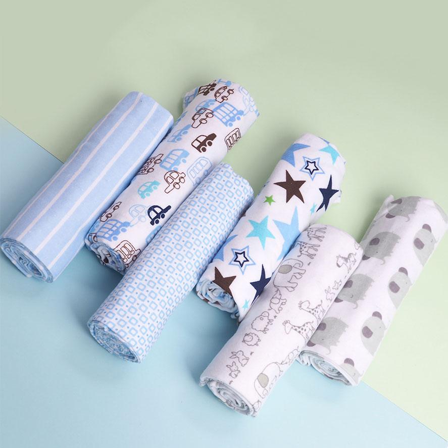 4 Pcs/lot Soft Baby Blankets Newborn Muslin Diapers 100% Cotton Flannel Receiving Baby Blanket Newborn Swaddle Wrap Manta Bebe
