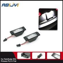 Illuminazione a LED Blub numero di auto luce targa lampada del bagagliaio per Nissan Qashqai x trail Juke Primera