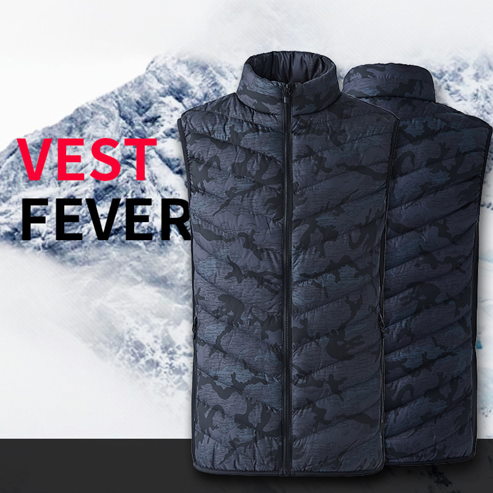 2018 New Men Women Electric Heated Vest Heating Waistcoat Thermal Warm Clothing Feather Hot Sale Winter Jacket  Sock Wristbands