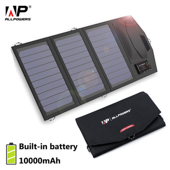 ALLPOWERS Solar Battery Charger Portable 5V 15W 10000mAh USB Type-C Portable Solar Panel Charger Outdoors Foldable Solar Panel.