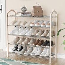 shoe shelf household economy small door storage artifact multi-layer dust-proof shoe cabinet dormitory indoor good-looking
