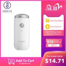 SOOCAS, dzięki czemu białe ED1 Xiaomi Mijia Mini golarka elektryczna maszynka do golenia USB akumulator przenośny trymer do brody nadający się do prania mężczyźni suchej mokrej maszynki do golenia