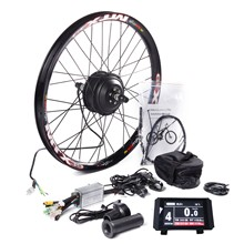 MTB E bike Rear Wheel Conversion Kit with MTX39 Thick Welding Rim KT LCD8 Color Display Controller PAS Brake Lever 24 29in 700C