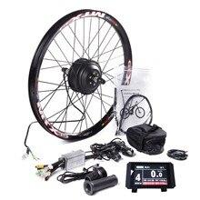דואר אופני MTB אחורי גלגל המרת ערכת עם MTX39 עבה ריתוך שפת KT LCD8 צבע תצוגת בקר PAS בלם מנוף 24 29in 700C