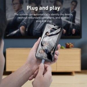 Image 5 - Baseus USB C kabel HDMI typ C do HDMI Thunderbolt 3 2 60w PD zasilacz do MacBook Pro iPad USB C do 4K HDMI kabel cyfrowy