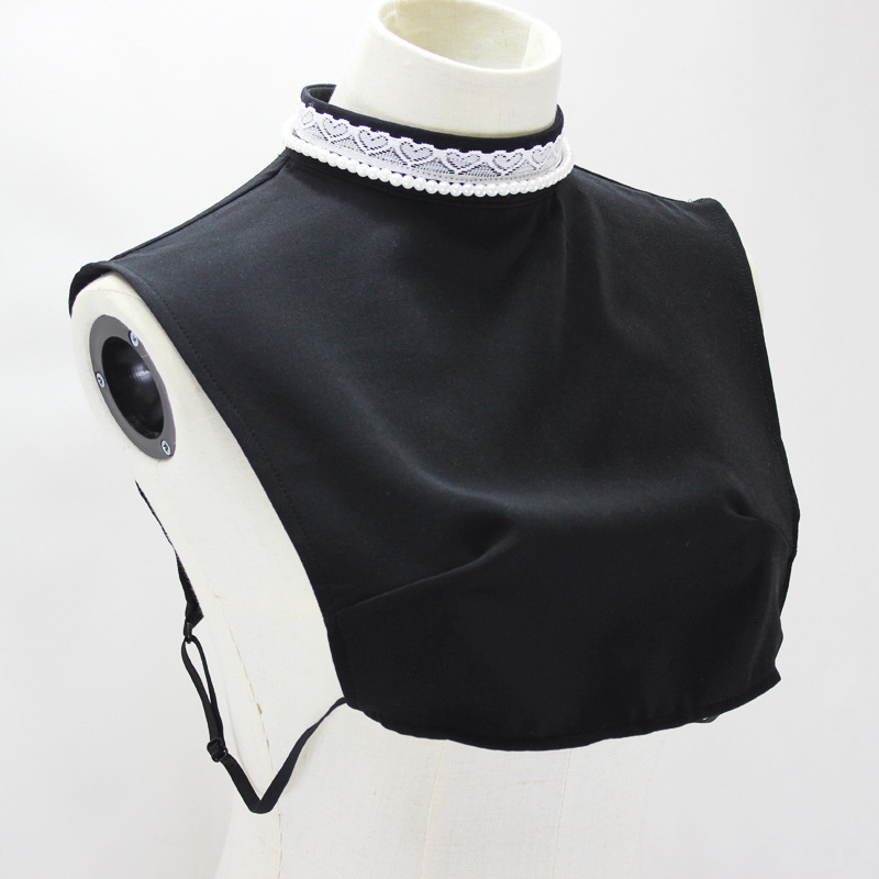 Set Lace High Lead Dickie Decoration Pearl Stand Collar New Free Shipping Detachable Shirt Women