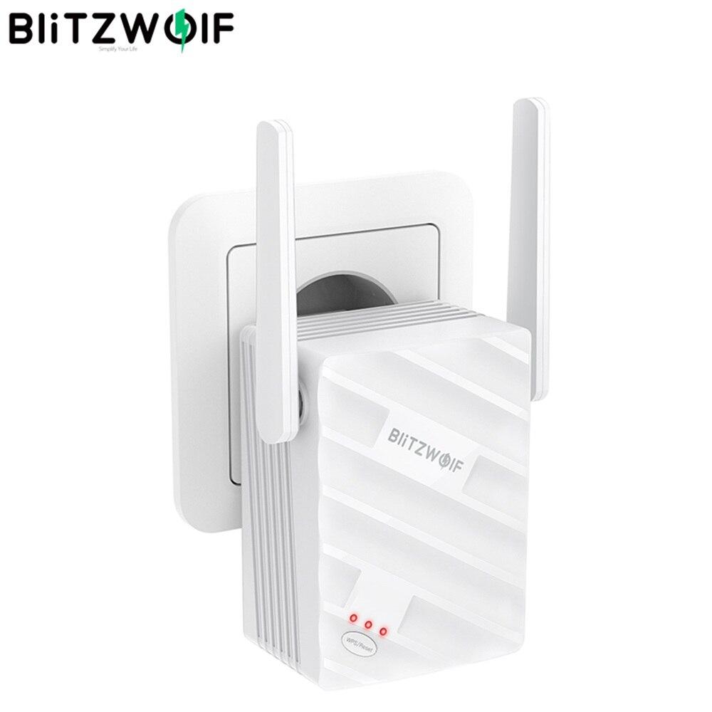 Беспроводной ретранслятор BlitzWolf, двухдиапазонный 1200 Мбит/с, с поддержкой 64 устройств, портативный усилитель сигнала Wi-Fi