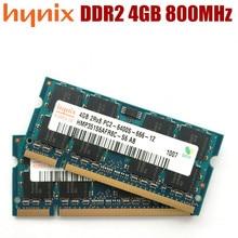 Hynix ذاكرة الكمبيوتر المحمول DDR2 4GB PC2 6400 800MHz دفتر ذاكرة الوصول العشوائي 4G 800 6400S 200 pin SO DIMM