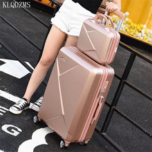 Suitcase-Set Rolling-Luggage Cosmetic-Bag Travel Trolley Business 28inch KLQDZMS Women