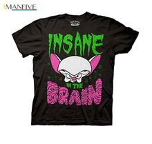Animaniacs Insane In The Brain Adult T Shirt  Cartoon t shirt men Unisex New Fashion tshirt free shipping top ajax shirts