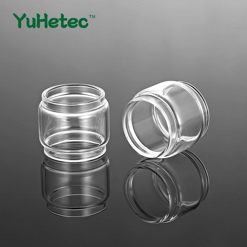 2PCS YUHETEC Replacement Fat Glass Tank For Augvape Intake Single Coil RTA/Intake Daul Coil  Bubble Glass Fatboy Tube