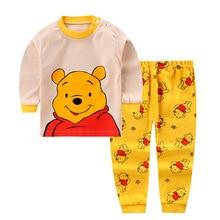 Kids Baby Pajamas Cartoon Clothing Set Long Sleeve