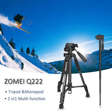 ZOMEI Tripod Q222 Monopod Camera Stand Multi-function Flexible Professional for Travel Smartphone DSLR Projector