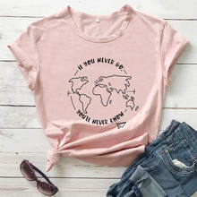 If You Never Go You'll Never Know 2020 New Arrival Summer 100%Cotton Funny T Shirt Vacation Shirt Travel Shirts Vacay Shirt
