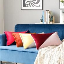 цены на Nordic Splice Two-tone Pillow Cover European Court Soft Velvet Throw Pillow Case Bedroom Sofa Car Home Decor Cushion Cover  в интернет-магазинах