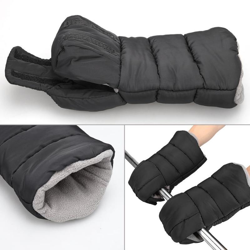 Winter Pram Hand Muff Baby Carriage Pushchair Warm Fur Fleece Hand Cover Buggy Clutch Cart Muff Glove Stroller Accessories