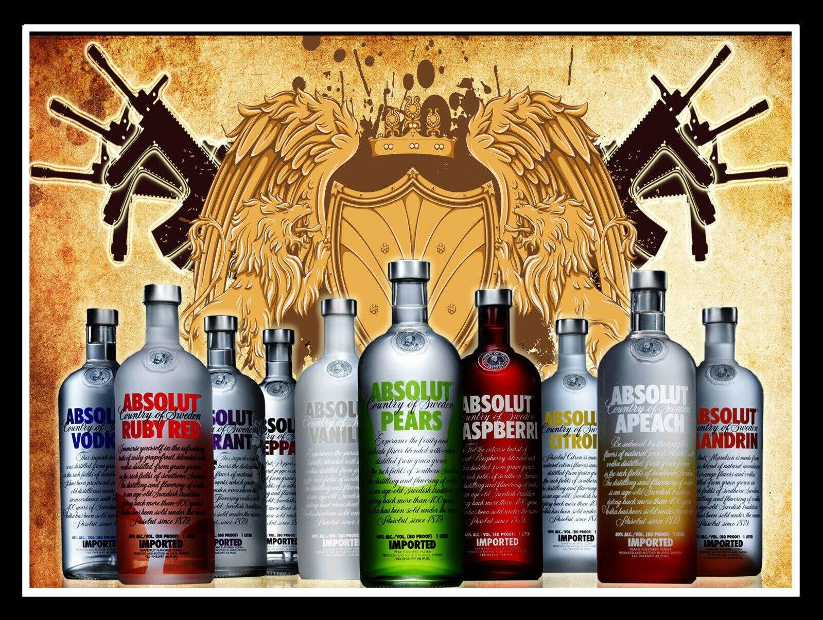 Absolut Vodka Retro Metal Sign//Plaque Pub Man Cave Gift Bar