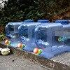 22L Car Driving Water Bucket PC serbatoio di acqua da campeggio addensato contenitore di acqua portatile con coperchio per fori per campeggio escursionismo Picnic