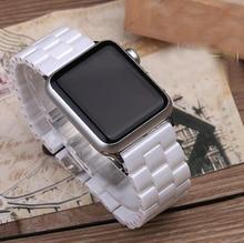 Najnowsze ceramiczne pas dla pasek do Apple Watch serii 6 5 4 3 2 1 na rękę pasek do iwatch SE Link bransoletka 38mm 40mm 42mm 44mm