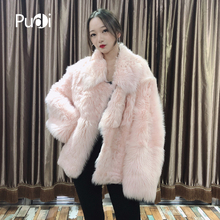 Pudi TX206202 women winter warm Real Tuscan sheep fur coat jacket overcoat lady fashion genuine outwear