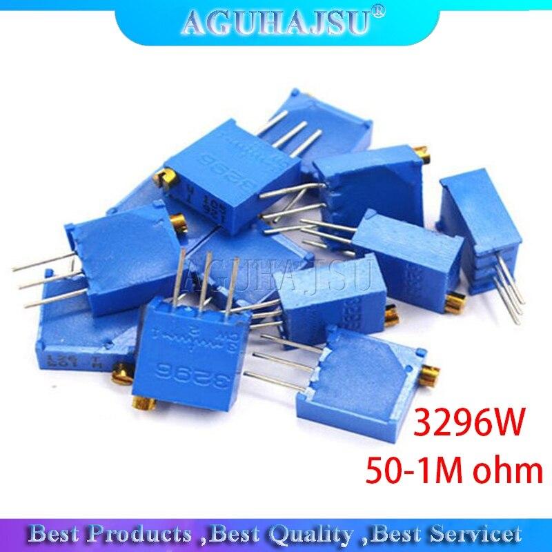 50 шт. 3296W 3296 50 100 200 500 Ом 1K, 2K 5K 10K 20K 50K 100K 200K 500K 1 м ом 50R 100R 200R 500R Подстроечный резистор подстроечный потенциометр