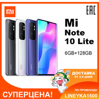 Mi Note 10 Lite 6GB 128GB Mobile phone Smartphone Cellphone Xiaomi Redmi MIUI AndroidSnapdragon730G Octa Core 64MP Quad Camera 5260mAh 6.47 AMOLED NFC WIFI Blth 5.0 Fingerprint ID 30W Fast Charge 27521 27522 27523