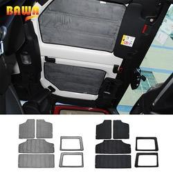 BAWA Heat Insulation Cotton Pad for Jeep Wrangler JK 2012-2017 Headliner Roof and Rear Window Insulation Kit 2 4 Doors