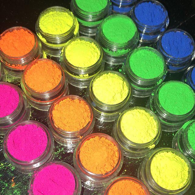 Neon Pigment/ Nail Powder/ Nail Pigment/ Neon Makeup/ Cosmetic Pigment/ 12 Colors Neon Pigment - 10 /50 Grams Pigment For Polish
