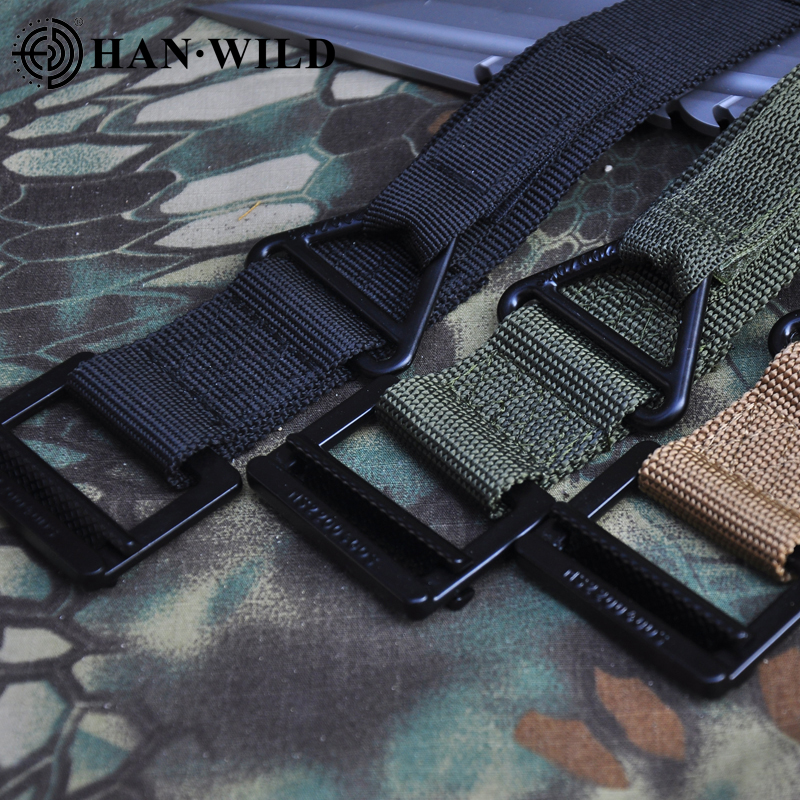 Tactical Army Belt Outdoor Nylon Waist Belts Metal Buckle Hook Accessories Waist Support Hunting  Duty Men Military