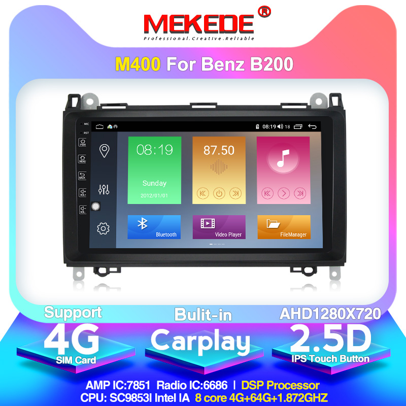 Android 10.0 Car Multimedia Player Navigation GPS Radio For Mercedes Benz B200 A B Class W169 W245 Viano Vito W639 Sprinter W906
