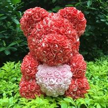 40 м розовый медведь с цветком подарок на День святого Валентина для свадебного декора