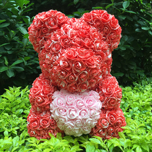 40M Rose Bear With Flower Valentiness Day Gift For Wedding Decoration
