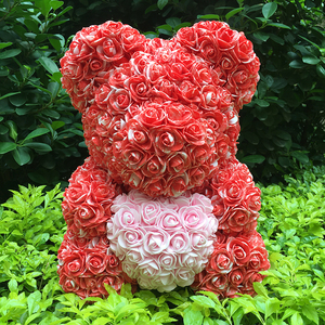 Image 1 - 40M Rose Bear With Flower Valentiness Day Gift For Wedding Decoration