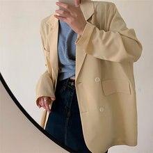 Hzirip minimalista escritório sólido senhoras elegante femme suave 2021 fina solta streetwear breve verão novo all-match blazers casuais