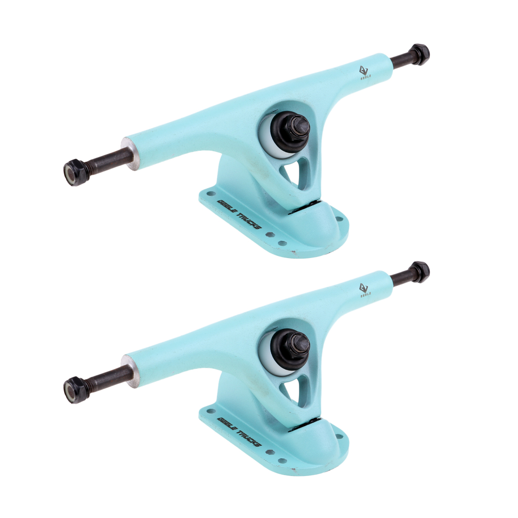 2pcs 7.25''/184mm Universal Replacement Durable Aluminum Alloy Longboard Trucks Set Skateboard Parts