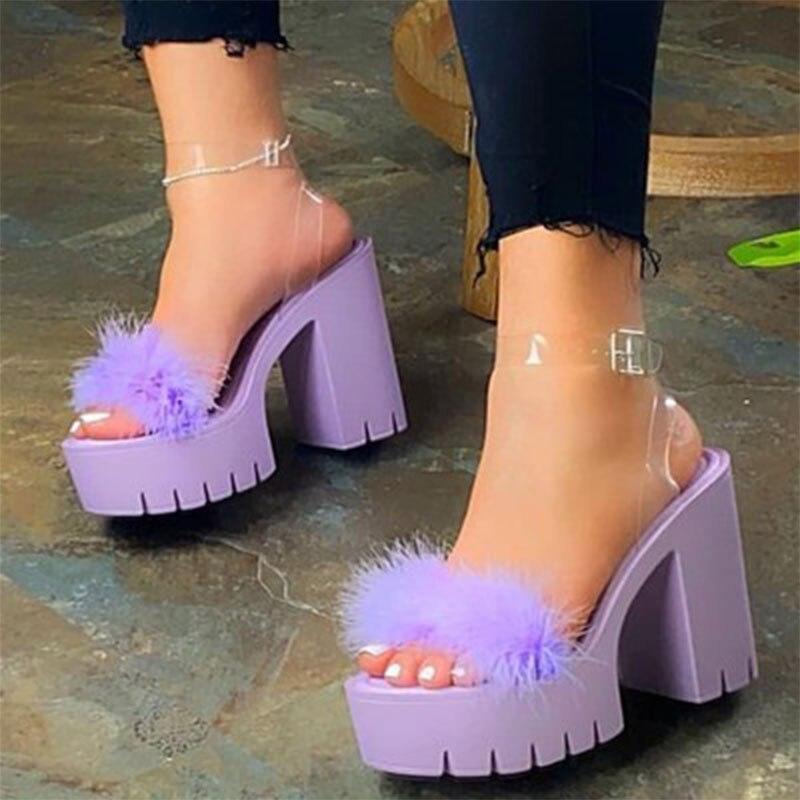Women Fur Sandals Women