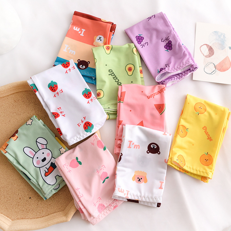 Cute Cartoon Animal Print Female Ice Sleeves Gloves Cover Summer Women Outdoor Sunscreen Cover UV Ice Silk Long Sleeves Arms