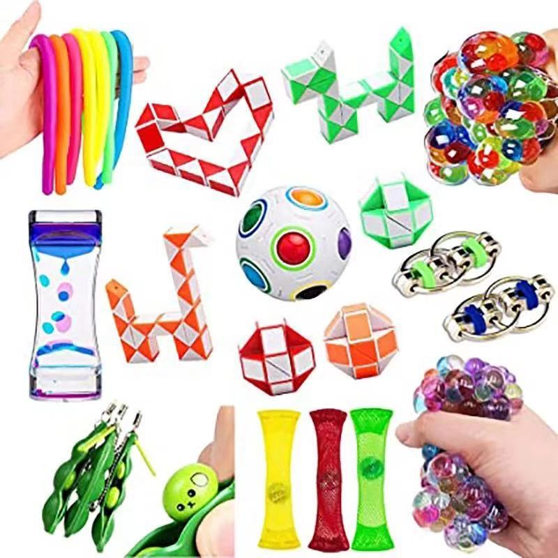 Sensory-Toy-Set Relief-Toys Fidget Anxiety Adults Autism Stress Pop for Kids 23pcs-Pack