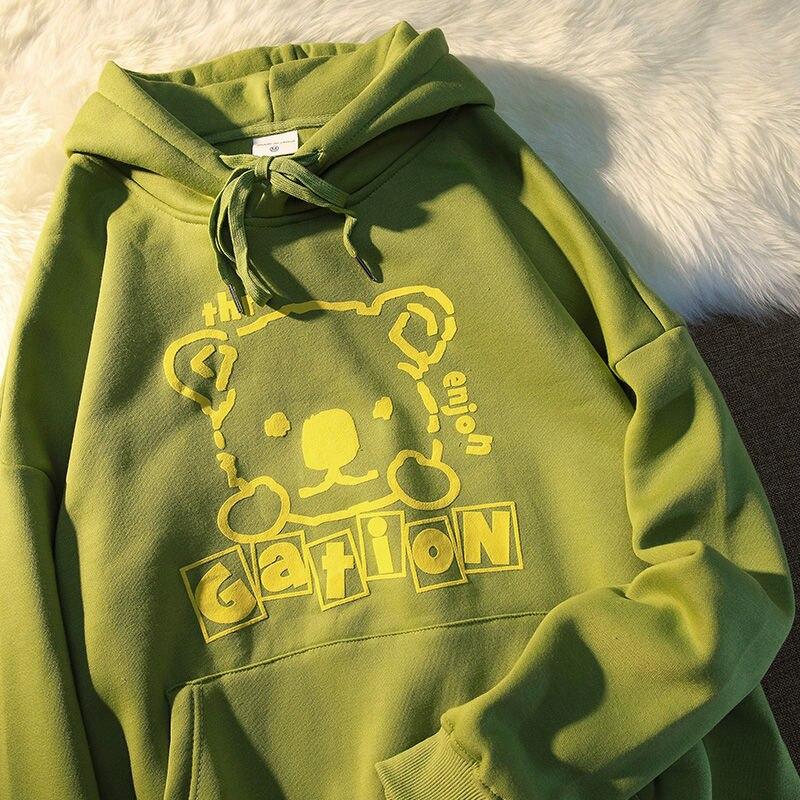 Bear 2021 new ladies hoodie round neck pullover proud couple clothing fashion top ladies sweatshirt clothes teenagers hoodie 3